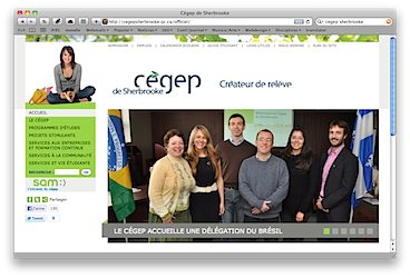 Home page do CEGEP - Sherbrooke